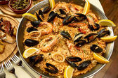 Delicious spanish dinner — Stock Photo