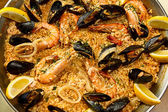 Large sea paella — Stock Photo