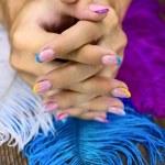 Beautiful bright nails — Stock Photo