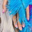 Hand and feathers — Stock Photo #11751065
