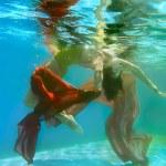Beautiful water girl — Stock Photo