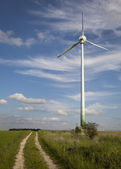Molino de viento, energía alternativa — Foto de Stock