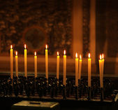 Row of candles — Stock Photo