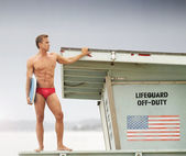 Lifeguard on duty — Stock Photo