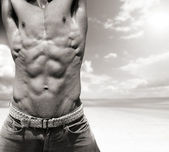 Abs alone — Stock Photo
