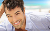 Man with big smile — Stock Photo