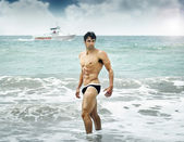 Man in ocean — Stock Photo