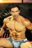 Sexy muscle man — Stock Photo