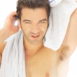 Man with towel — Stock Photo #11466431