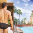 Man from behind — Stock Photo