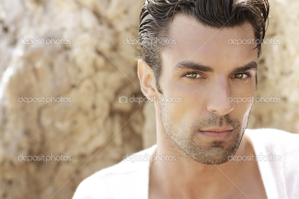 Handsome male model - Stock Image