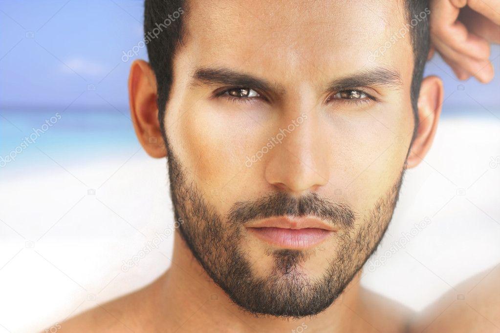 性感的男人的脸 — 图库照片