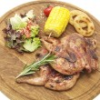 Stock Photo: Grilled quail