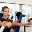 Stock Photo: Sport training and working out in fitness club