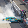 NASCAR 2012:  Sprint Cup Series FedEx 400 Benefiting Autism Spea — Foto de Stock