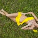 Blonde Model in Field — Stock Photo #12067336