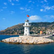 Lighthouse in port Alanya, Turkey. — Stock Photo #11801783