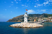 Lighthouse in port Alanya, Turkey. — Stock Photo