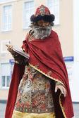 Living Statue: Russian Tsar — Stock Photo