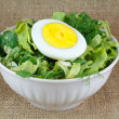 Salad in white bowl — Stock Photo