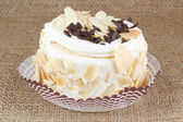 Almond cake with chocolateAlmond cake with chocolate — Stock Photo