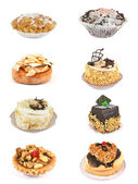 Set of 8 cakes — Stock Photo