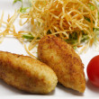 Cutlet with vegetables — Stockfoto