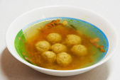 Soup with meatballs — Stock Photo