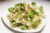 Salad with croutons — Stock Photo