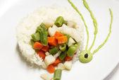 Rice porridge — Stock Photo