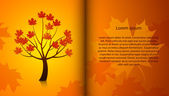 Beautiful vector autumn tree — Stock Vector