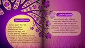 Magische boek met herfst boom — Stockvector