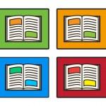 Collection of open book vector — Stock Vector