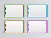 Collezione del notebook bianco aperto — Vettoriale Stock