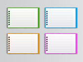 白いノートブックを開くのコレクション — ストックベクタ