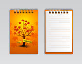 Notebook with trees — Stock Vector