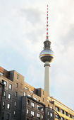 Buildings and Tv Tower in Berlin — Stock Photo