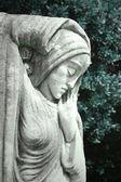 Mystical female statue — Stock Photo