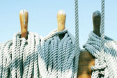 Wooden tools and ropes — Stock Photo