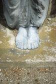 Nohy sochařství — Stock fotografie