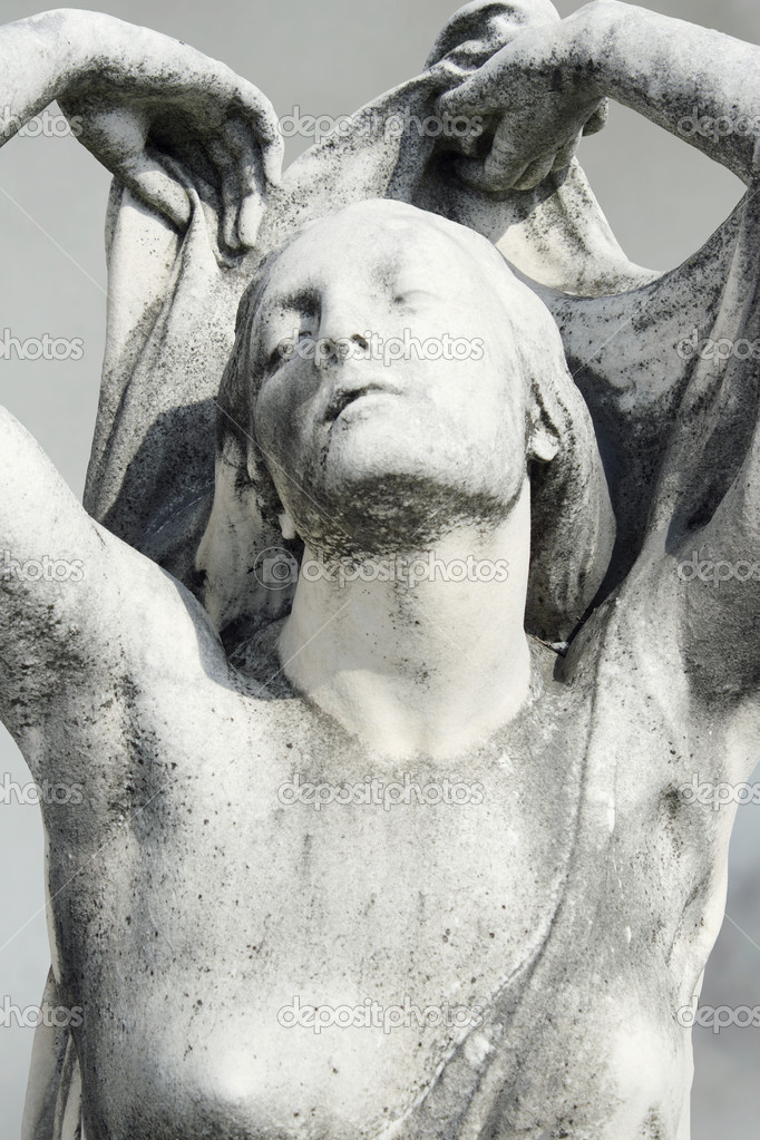 Detail of a beautiful female statue in Staglieno, Genoa  Stock Photo #11747639