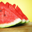 Three slices watermelon — 图库照片