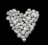 Heart in white stones — Stock Photo