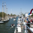 Hellevoetsluis harbor with boats — Stock Photo