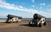 Cannons in Hellevoetsluis harbour — Stock Photo
