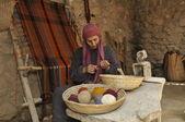Woman in nazareth village — Stock Photo