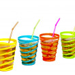 Drinks in glasses with straw - Stock Photo