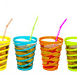 Drinks in glasses with straw — Stock Photo #11896975