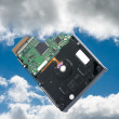 From harddisk to vloud storage — Stock Photo