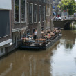Floating terrace in Delft - Stock Photo